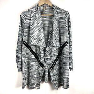Comfy USA Open Front Lagenlook Jacket Zipper Med